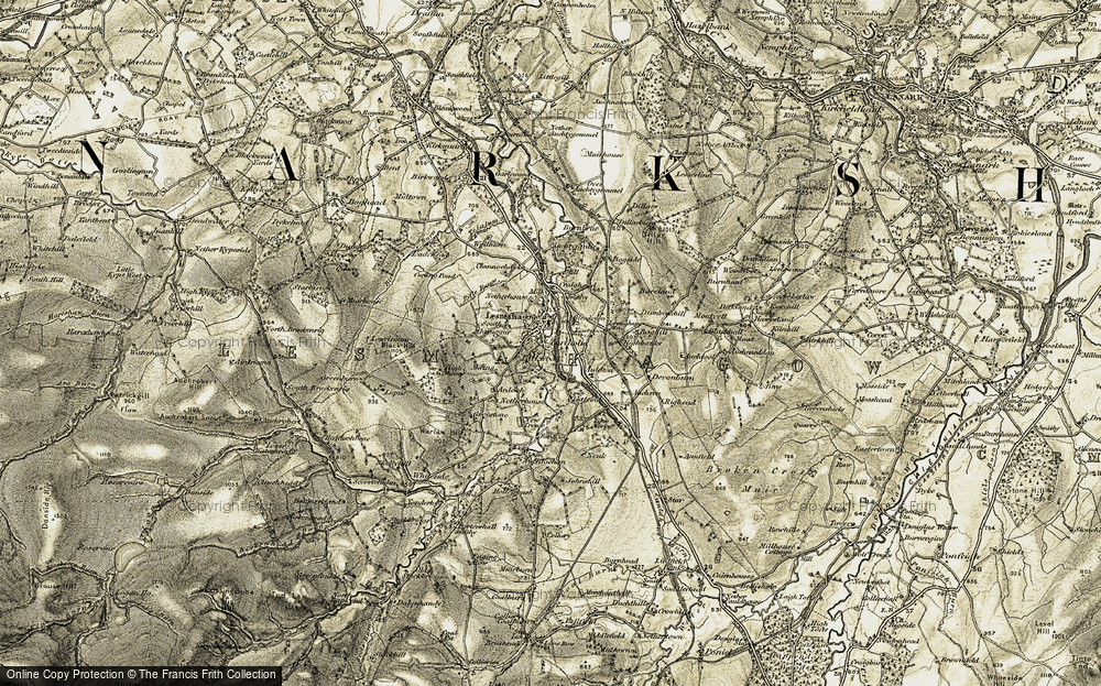Old Map of Lesmahagow, 1904-1905 in 1904-1905