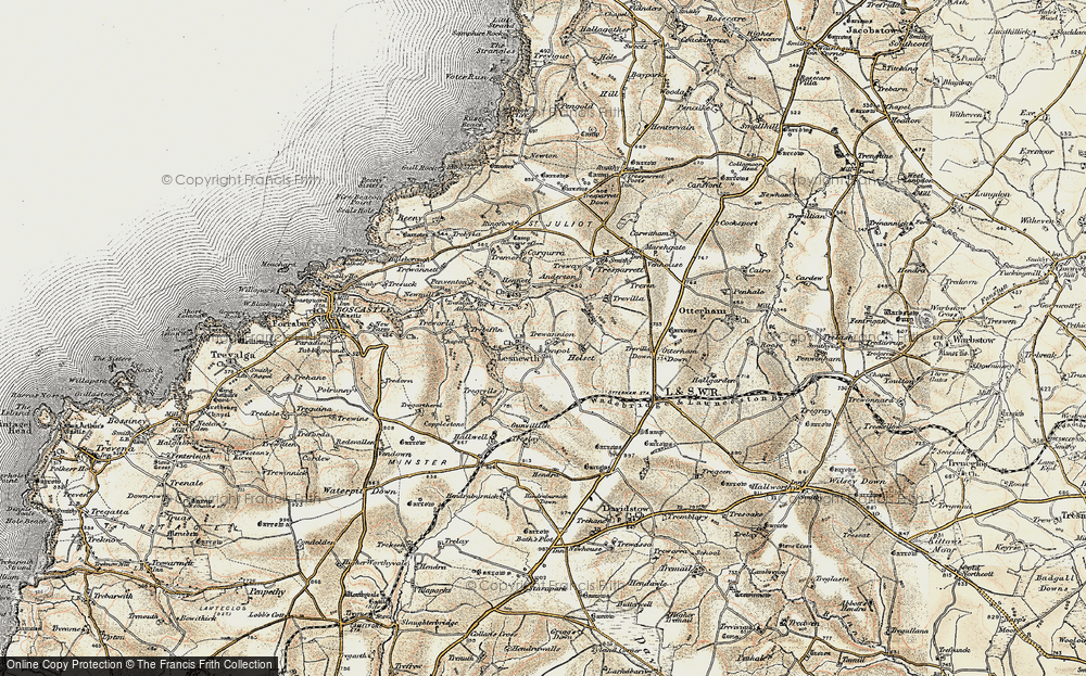 Old Map of Lesnewth, 1900 in 1900