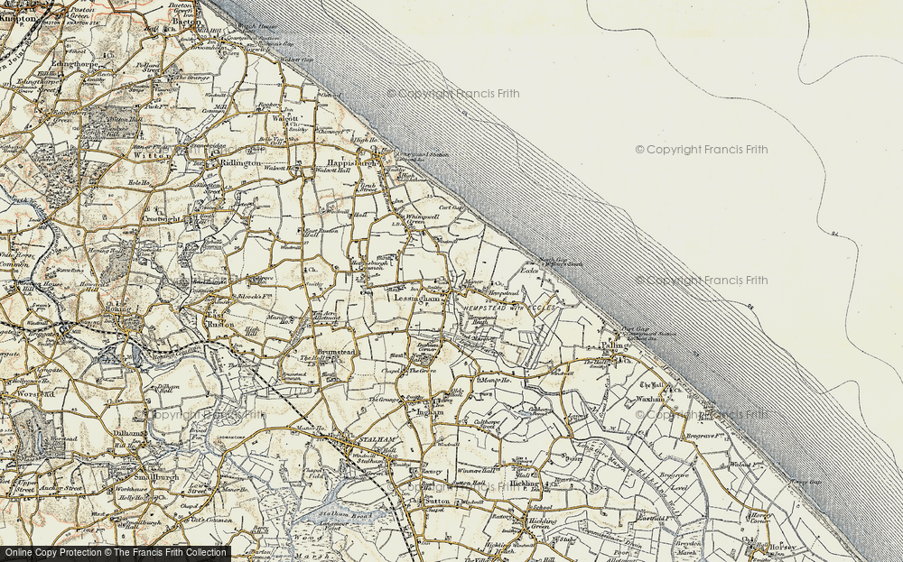 Old Map of Lessingham, 1901-1902 in 1901-1902