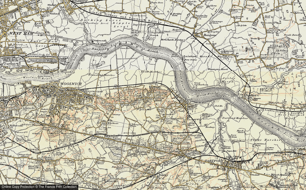 Old Map of Lessness Heath, 1898 in 1898