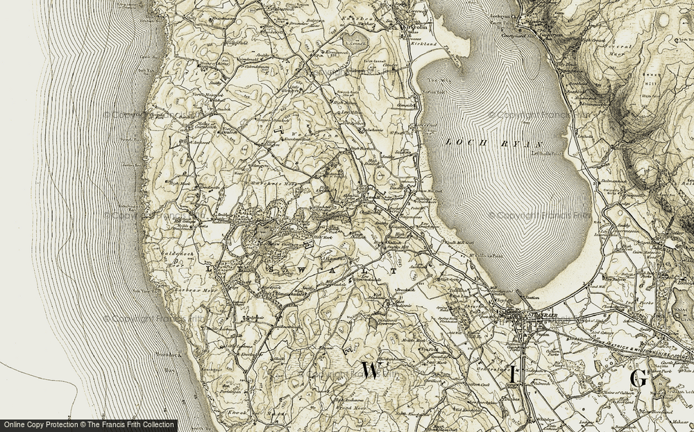 Old Map of Leswalt, 1905 in 1905