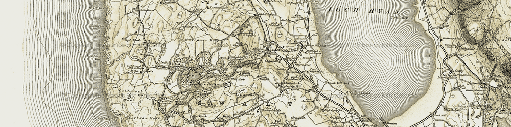 Old map of Wierston in 1905