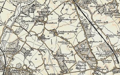 Old map of Aldenham School in 1897-1898