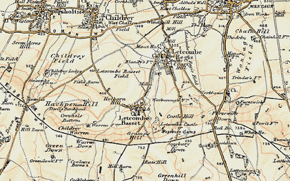 Old map of Antwicks Manor in 1897-1900