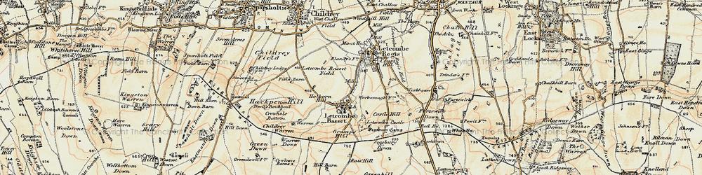 Old map of Letcombe Bassett in 1897-1900