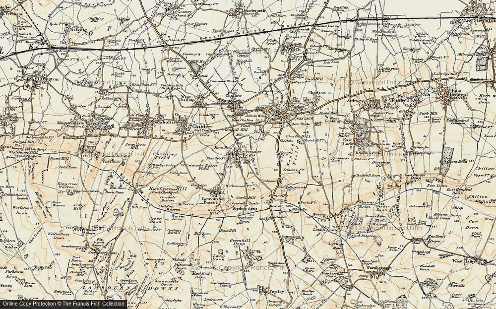 Old Map of Letcombe Regis, 1897-1899 in 1897-1899