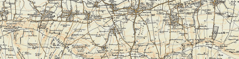 Old map of Letcombe Regis in 1897-1899
