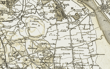 Old map of Airth Castle in 1904-1906