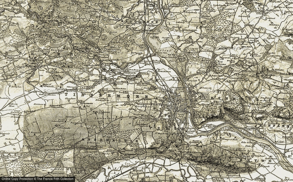 Old Map of Letham, 1906-1908 in 1906-1908