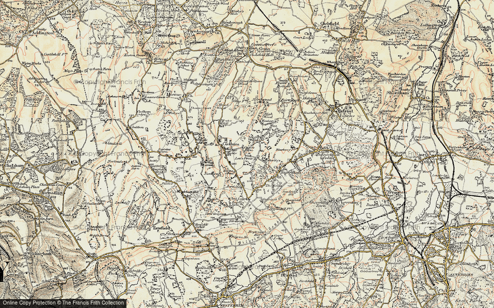 Old Map of Lett's Green, 1897-1902 in 1897-1902