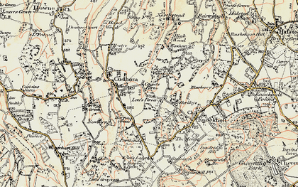 Old map of Lett's Green in 1897-1902