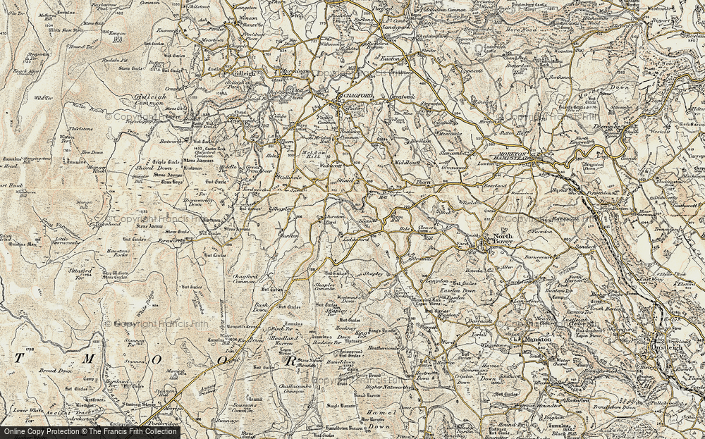 Old Map of Lettaford, 1899-1900 in 1899-1900