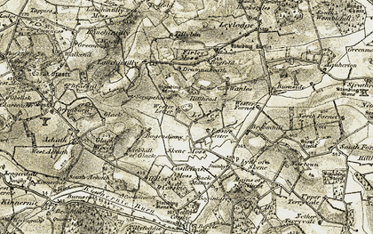 Old map of Lauchintilly Wood in 1909