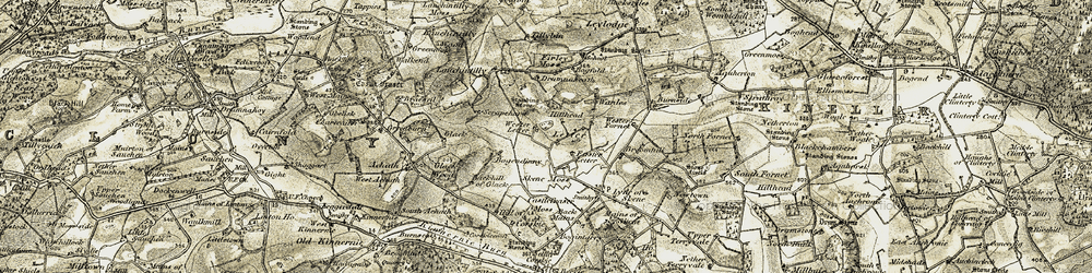 Old map of Wester Letter in 1909