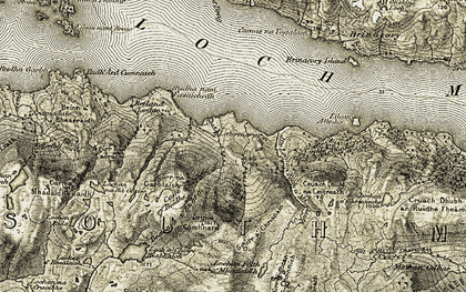 Old map of Lettermorar in 1908