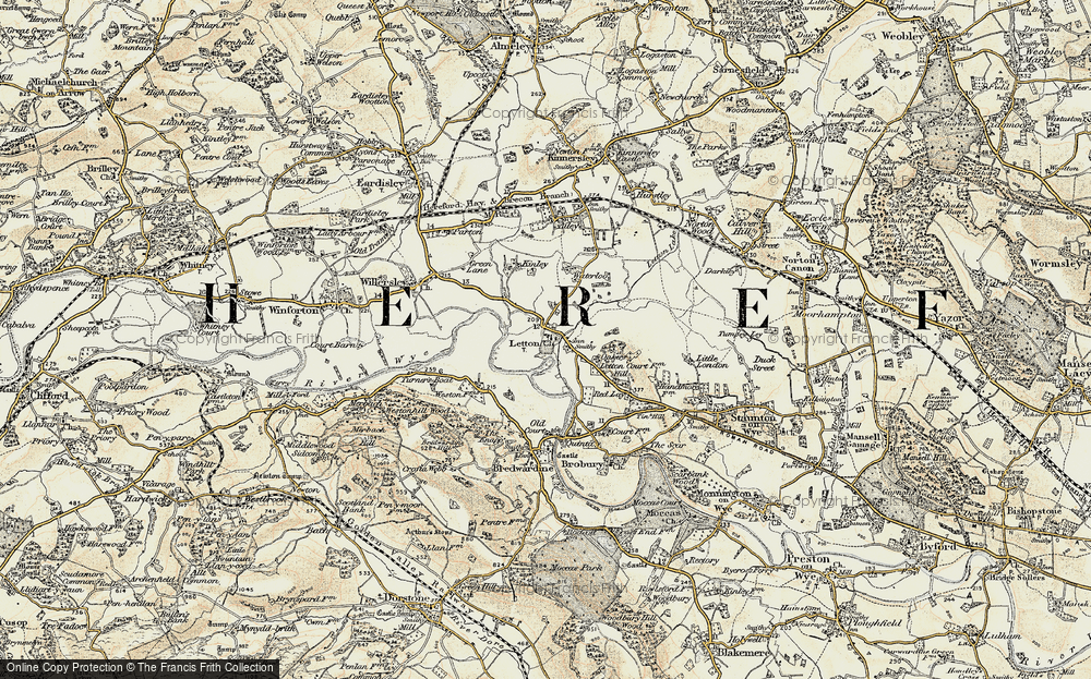 Old Map of Letton, 1900-1901 in 1900-1901
