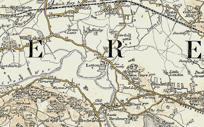 Old map of Letton in 1900-1901