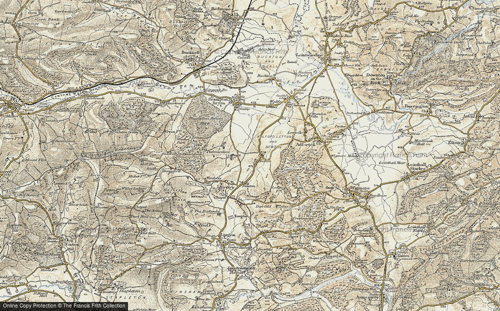 Old Map of Letton, 1901-1903 in 1901-1903