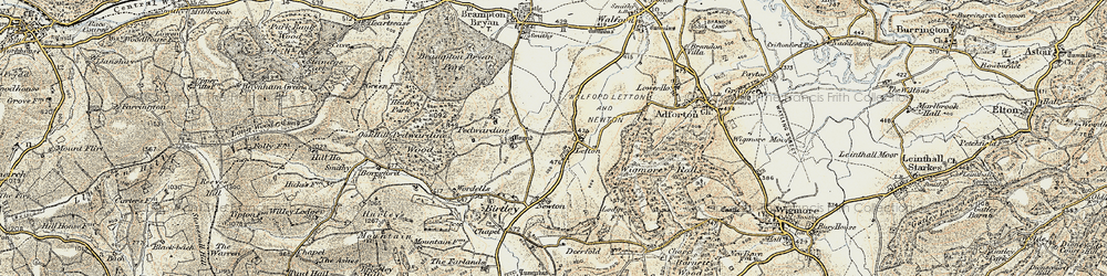Old map of Letton in 1901-1903