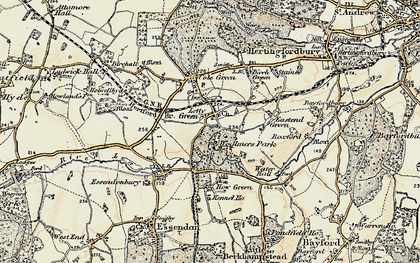 Old map of Letty Green in 1898