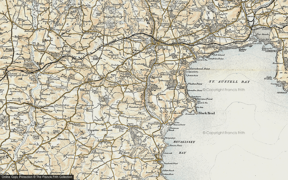 Old Map of Historic Map covering Levalsa in 1900