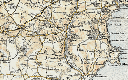 Old map of Levalsa Meor in 1900