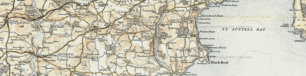 Old map of Levalsa in 1900