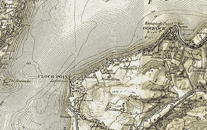 Old map of Levan in 1905-1907