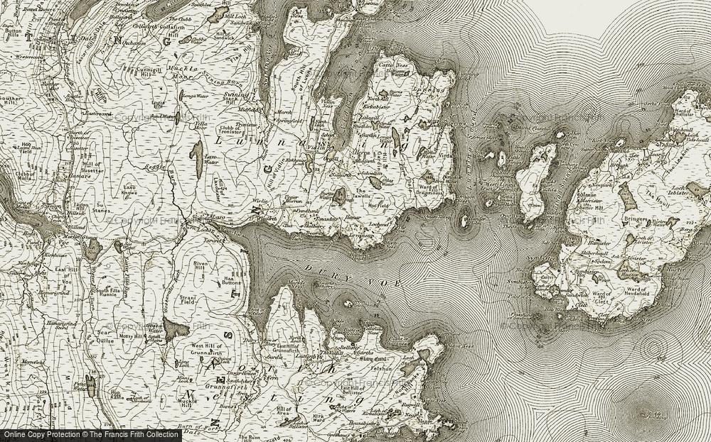 Old Map of Levaneap, 1911-1912 in 1911-1912