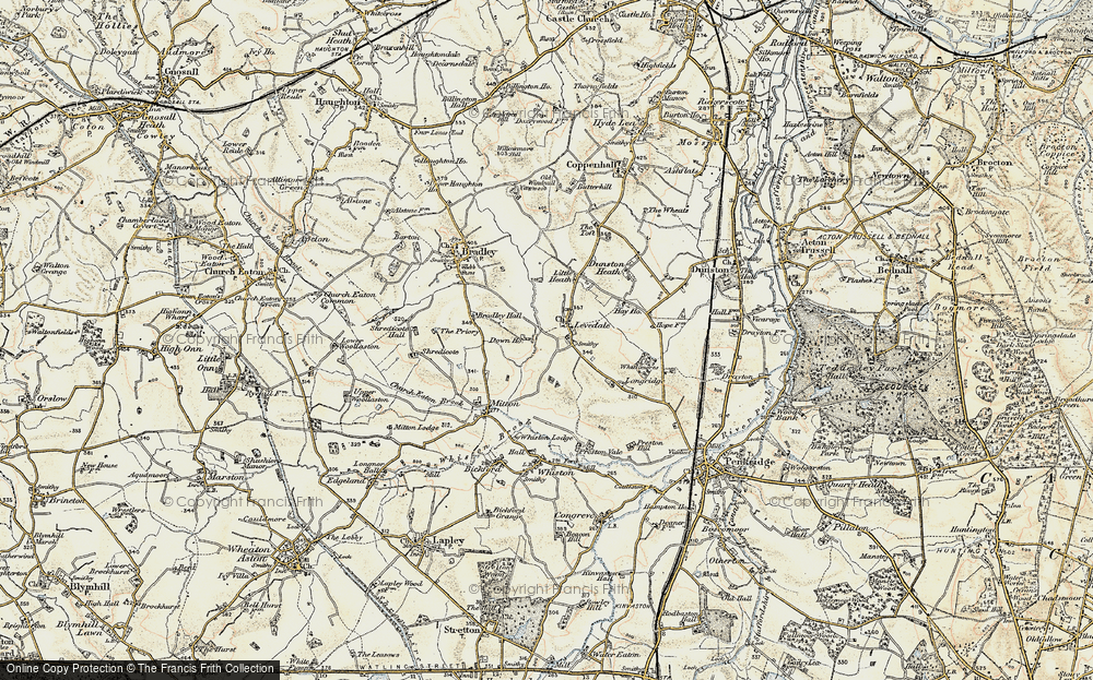 Old Map of Levedale, 1902 in 1902