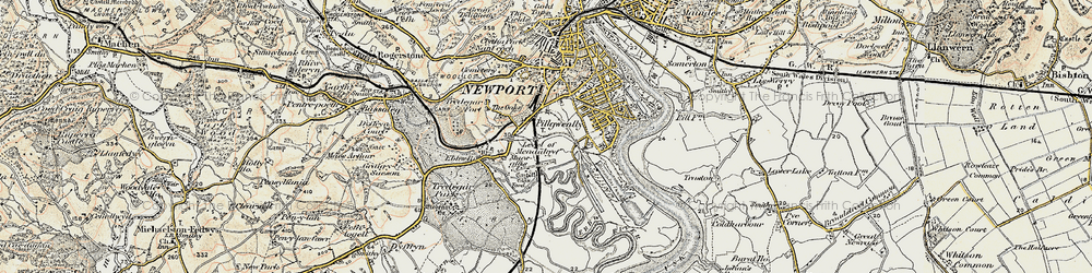 Old map of Level of Mendalgief in 1899-1900