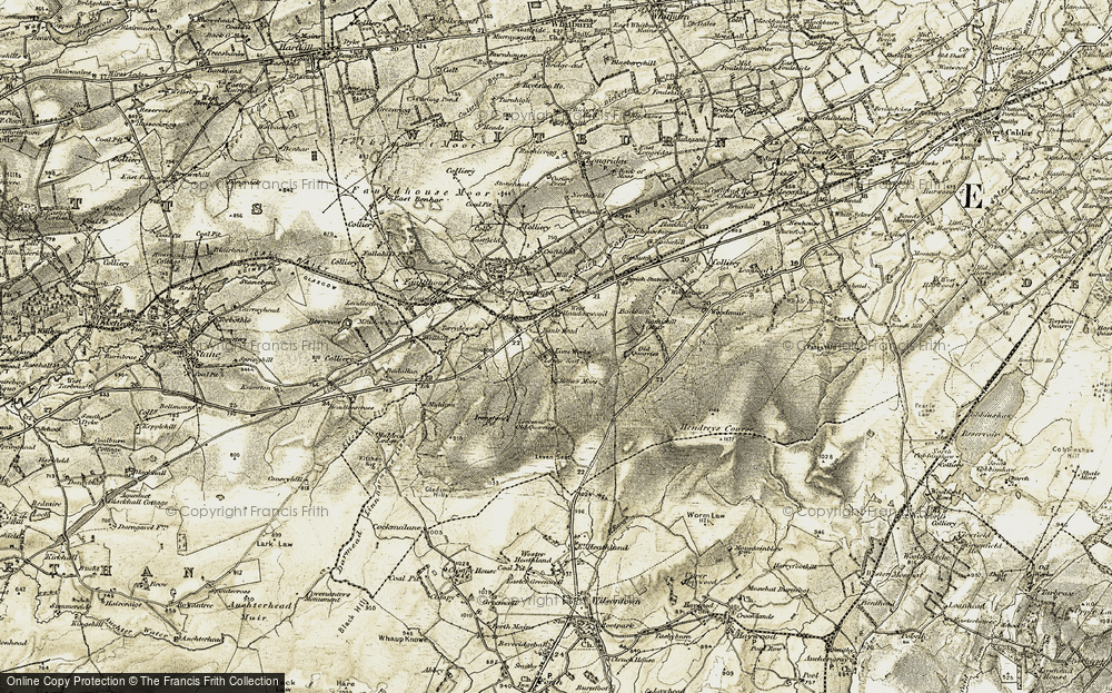 Old Map of Historic Map covering Leven Seat in 1904-1905