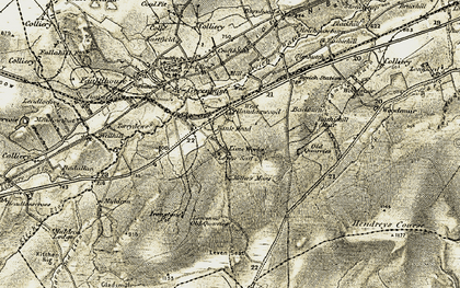 Old map of Leven Seat in 1904-1905