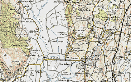 Old map of Levens in 1903-1904