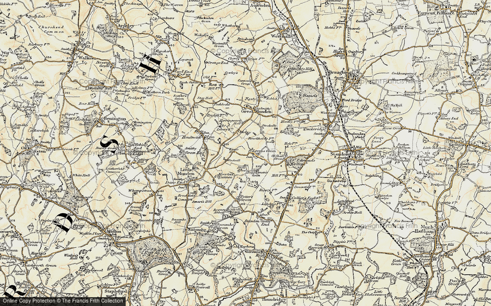 Old Map of Levens Green, 1898-1899 in 1898-1899