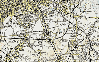 Old map of Levenshulme in 1903