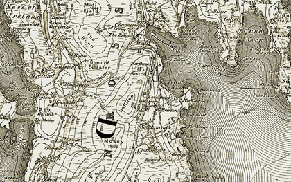 Old map of Leven Wick in 1911-1912