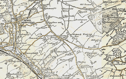 Old map of Leverstock Green in 1898