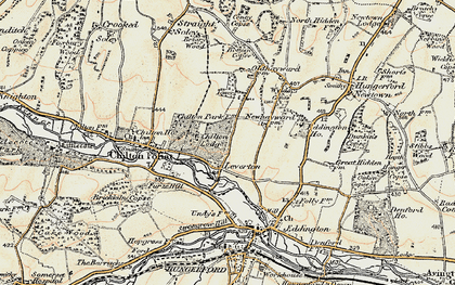 Old map of Chilton in 1897-1900