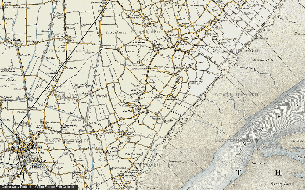 Old Map of Leverton Highgate, 1901-1902 in 1901-1902