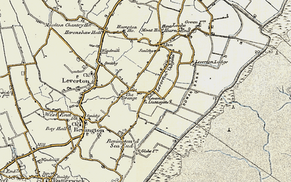 Old map of Leverton Lucasgate in 1901-1902