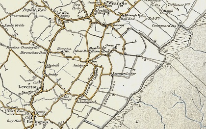 Old map of Leverton Outgate in 1901-1902