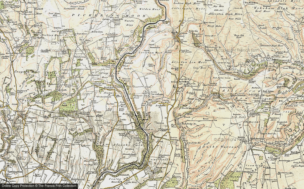 Old Map of Historic Map covering Levisham Beck in 1903-1904