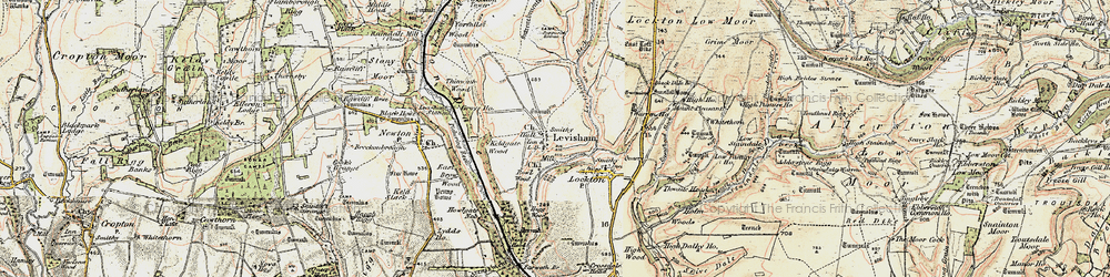 Old map of Levisham Beck in 1903-1904