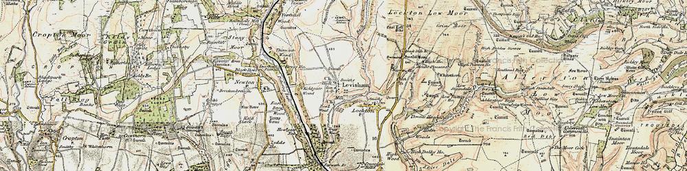Old map of Levisham in 1903-1904