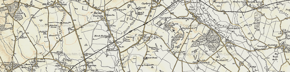 Old map of Lew in 1898-1899