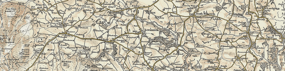 Old map of Tinney Hall in 1900