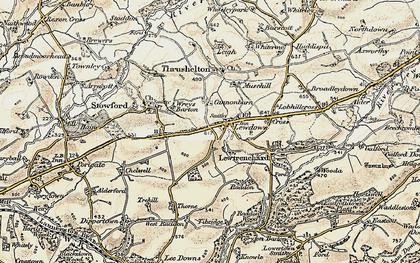 Old map of Lewdown in 1900