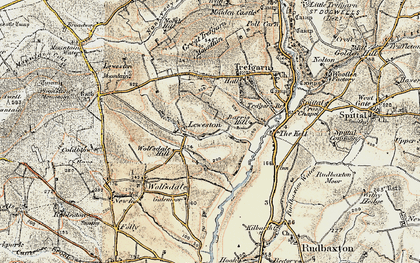 Old map of Leweston in 1901-1912