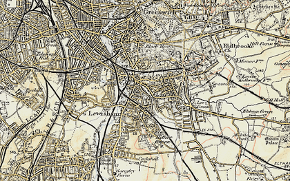 Old map of Lewisham in 1897-1902